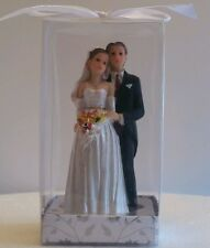 BRIDE AND GROOM WEDDING BRIDAL FIGURINE TABLE DECORATION CAKE TOPPER FAVOR