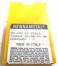 Kennametal, Cutting Inserts, Sm-292 K9 Pcs10, Too601 02/98-09 Mr, 10 In Pack