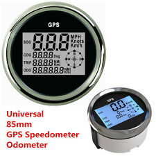 Universal New 9-32V GPS Digital Speedometer Odometer Gauge For Car Truck Marine