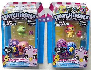 HATCHIMALS COLLEGGTIBLES - Pet Obsessed - Hatchipets 2-Pack  NIP