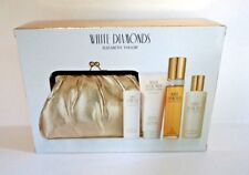 ELIZABETH TAYLOR WHITE DIAMONDS  Perfume Gift Set W/Gold Bag  NIB & Sealed