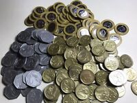 Play Money 158xUK Plastic Coins Learning Resource For Children.Excell-Condition.