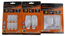 White Plastic Kingman Adhesive Hooks 10 pcs JC57922 JC57937 JC57921