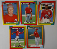 1990 Topps Traded St. Louis Cardinals Team Set of 5 Baseball Cards