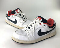 Nike SB Hustle Men's Low Top Sneakers White Black Red Size 13
