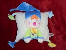 Doudou Coussin Lutin Clown Beige Bleu Vert The plushies collection