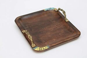 Wooden Tray with Antique Touch/Serving Tray/Decorative Antique Tray