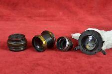 Dallmeyer  3inch lens super joblot 3xscrew mount vintage anastigmat no-3 107 6 5