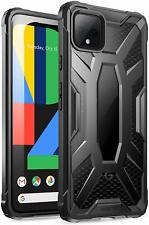 Google Pixel 4 Case,Poetic Rugged Lightweight Shockproof Cover Clear/Black