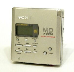 Sony Mz -R 55 Vintage Gold Portable Md Recorder Recording/Playback