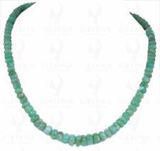 Chrysoprase Gemstone Round Cabochon Bead Necklace NS1237