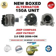 PARA JEEP COMPASS PATRIOT 2.0 CRD 06-ON 150A ALTERNADOR UNIDAD CALIDAD OE