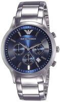 NEW EMPORIO ARMANI AR2448 Blue Chronograph Navy Blue Dial Men's Wrist Watch