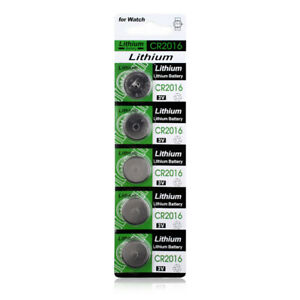 CR2016 LM2016 BR2016 DL2016 KCR2016 3V Button Coin Cell Battery Bulk Lot 5 Pcs