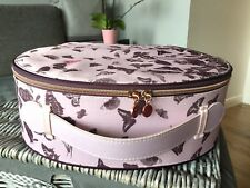 Ted Baker Cremallera Diseño Mariposa Rosa Redonda Caja de vanidad, maquillaje, caja de almacenamiento