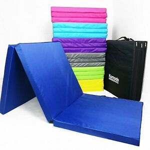 Tri Fold Folding Mat 6ft / 180cm x 60cm x 5cm Exercise Gym Train Workout Padded