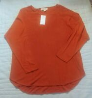 MICHAEL KORS Maple Leaf TUNIC SWEATER SIZE XL. NEW $ 89.50
