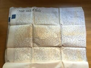 1820 Four Page Waxed Vellum Lease