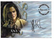 Buffy the Vampire Slayer Season 6 Autograph Card A36 Jeff Kober as Rack Auto