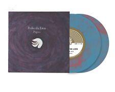 "Pedro The Lion Progress 2x 7"" PINK/BLUE VINYL Record! non lp songs! david bazan!"