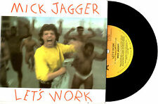 "MICK JAGGER (ROLLING STONES) - LET'S WORK - PROMO 7""45 VINYL RECORD PIC SLV 1987"