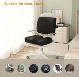Seat & Lumbar Support memory foam Ameriergo office chair Help relieve back pain