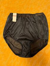 Vtg 60s Vanity Fair Nylon Panties Nwt Black Lace Mushroom Pinup Granny Sissy Sz6