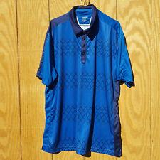 Ogio Mens Blue Short Sleeve Golf Polo Embroidered Logo - Size Large 2XL XXL