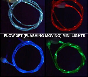 FLOW LED Light-up Glow USB Charger Cable cord for ALL MICRO-B USB phones/devices