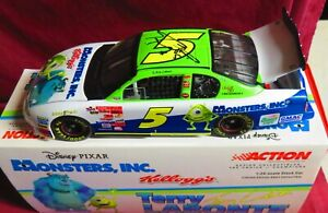 AUTOGRAPHED TERRY LABONTE, 1/24 ACTION 2001, #5, MONSTER'S INC--KELLOGGS