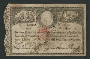 PORTUGAL 5.000 REIS 5$000 1928 (1798)  P-30  FINE