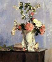 Camille Pissarro Flowers Still Life Painting Giclee CANVAS Print Poster SM 8x10