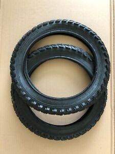 Pair 14 x 1.95 (53-254) Cycle / Bike Tyres