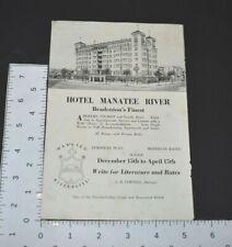 1939 Bradenton Florida Vintage Print Ad Hotel Manatee River Tourism Private Bath
