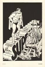 1984 Will Eisner ~ SUPERMAN & THE SPIRIT From #400 Portfolio DC Comic Art Print
