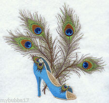 PEACOCK FASHION SET OF 2 BATH HAND TOWELS EMBROIDERED BY LAURA
