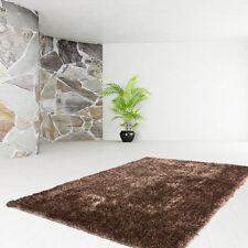 poils longs tapis de qualité uni Shaggy Moderne SOLDES Caramel 120x170