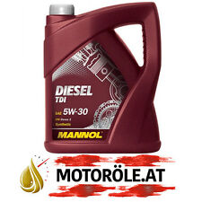 5l LITER MANNOL 5W-30 DIESEL TDI MOTORÖL MB 229.51 BMW LL-04 ACEA C3