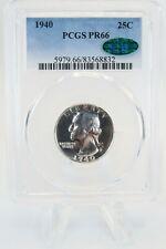1940-P PCGS PR66 Silver Washington Quarter Proof 25C CAC Approved *RARE*