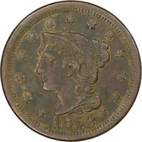 1853, 1c, Large Cent - Braided Hair - High Grade - Collectors Coin