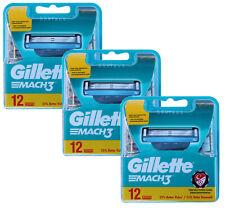 36x Gillette Mach 3 Rasierklingen 3x 12er OVP Set = 36er razor blades Klingen