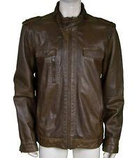 Calvin Klein One Leather Biker Jacket Men's Size XXL
