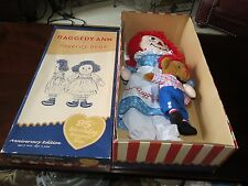 New In Box Dakin Raggedy Ann & Raggedy Bear 85th Anniversary Birthday Edition
