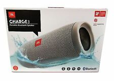 JBL Charge 3 Portable Bluetooth Speaker - Grey New
