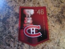 2012-13 Panini Molson Canadian Stanley Cup Collection 1946 MONTREAL CANADIENS