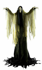 Hagatha the Towering Witch Halloween Prop Lifesize 7 Feet Sounds Haunted House