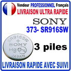 Pile 373-SR916SW 1.55V SONY Pile bouton QUALITÉ PREMIUM SONY MADE IN JAPAN