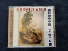 "Don Carlos & Gold ""Ghetto Living"" Tamoki-Wambesi-Dove Label Roots Reggae NEW S/S"