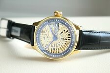 GOLD SKELETON Vintage 1911`s Handicraft Engraved Marriage New Cased Swiss Watch
