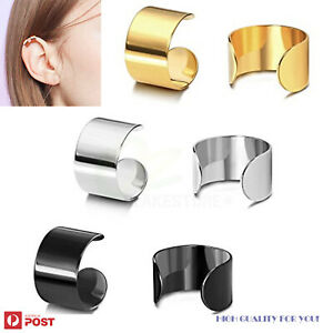 2Pairs Ear Cuffs Non Piercing Helix Cartilage Fake Earrings Stainless Steel Clip